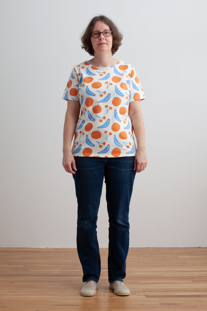 Women's Glasgow Top - Yummy Fruit Blue & Orange
