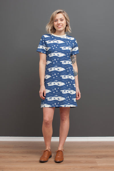 Women's Juno Dress - Beach Day Navy