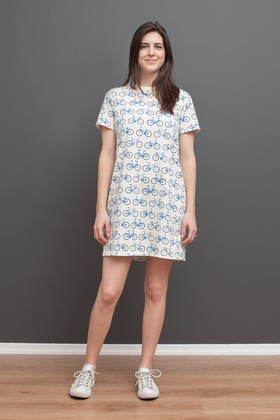 Women's Juno Dress - Bicycles Blue