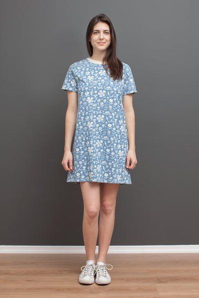 Women's Juno Dress - In The Garden Blue
