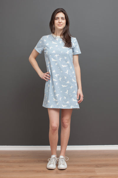 Women's Juno Dress - Skybirds Blue