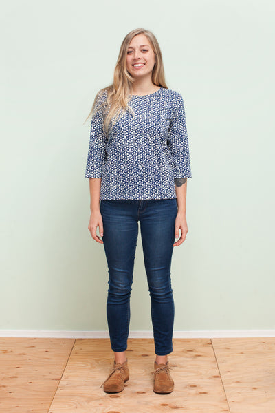 Women's London Top - Berries Navy