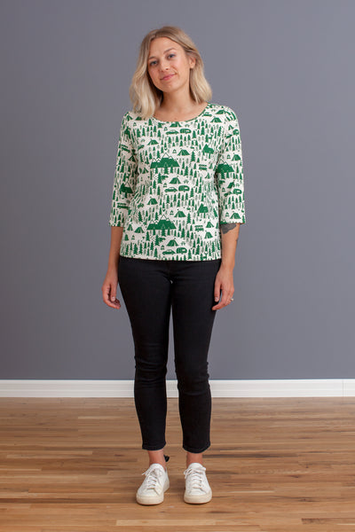 Women's London Top - Campground Green