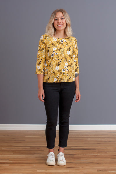 Women's London Top - Wildflowers Yellow
