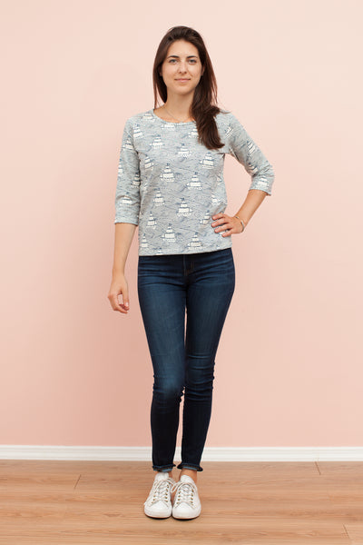 Women's London Top - High Seas Navy