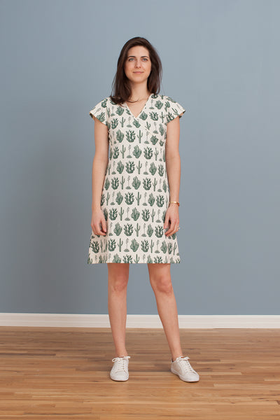 Women's Wrap Dress - Cactus Green