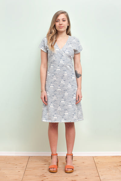 Women's Wrap Dress - High Seas Navy