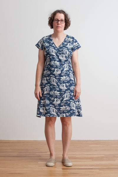 Women's Wrap Dress - Surfers Navy