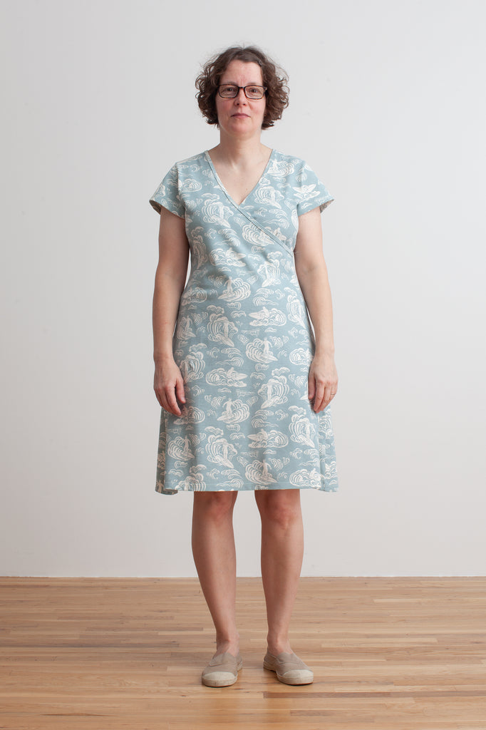 Women's Wrap Dress - Surfers Pale Blue