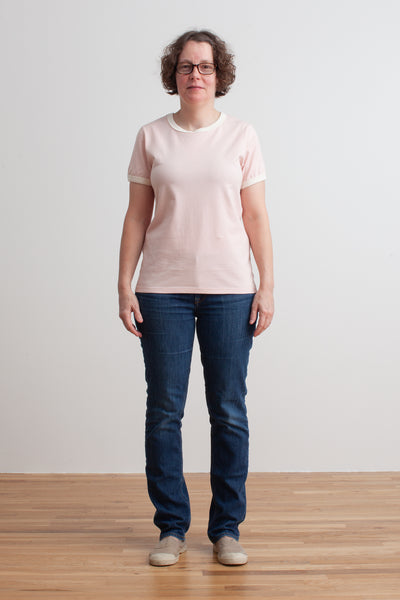 Ringer Tee - Solid Pink