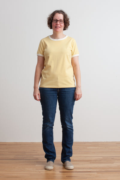 Ringer Tee - Solid Yellow