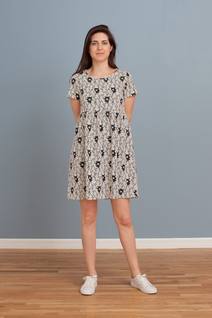 Women's Stockholm Dress - Bears Black