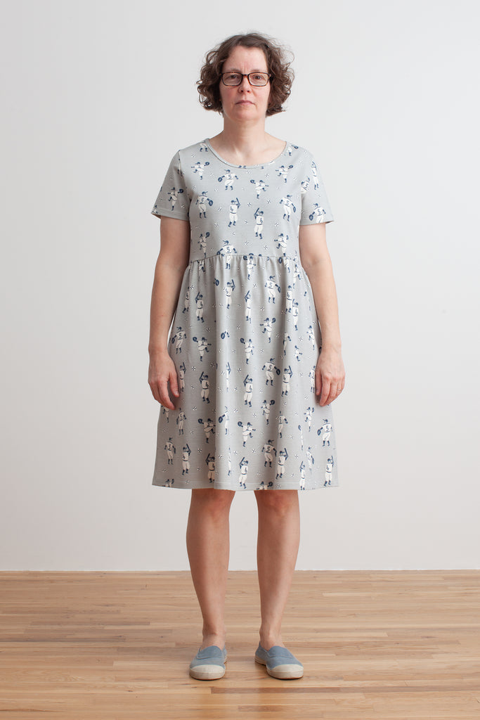 Women's Stockholm Dress - Baseball Grey & Midnight Blue