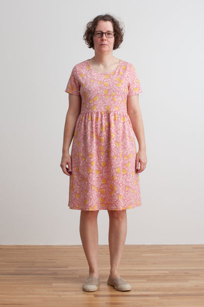 Women's Stockholm Dress - Holland Floral Dusty Pink & Yellow