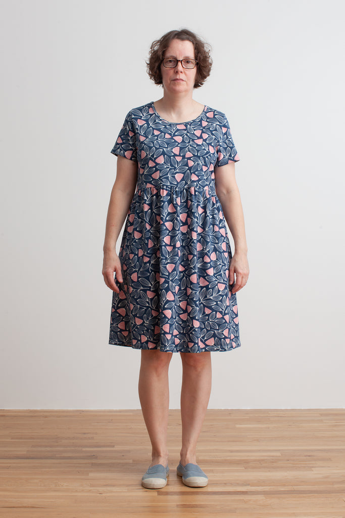 Women's Stockholm Dress - Holland Floral Midnight Blue & Dusty Pink