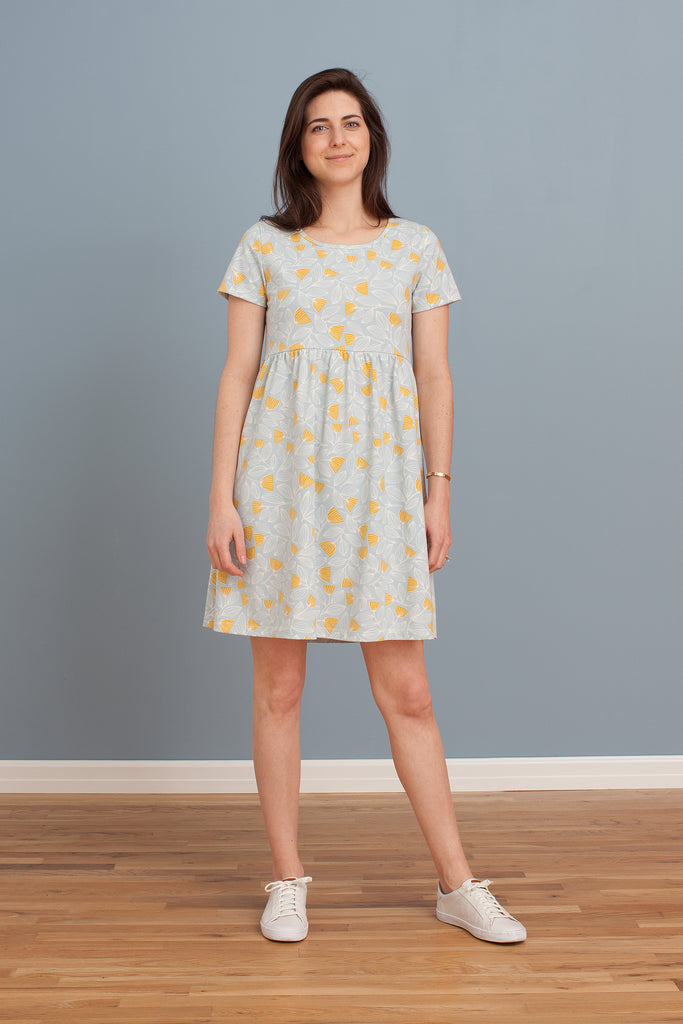Women's Stockholm Dress - Holland Floral Blue & Yellow