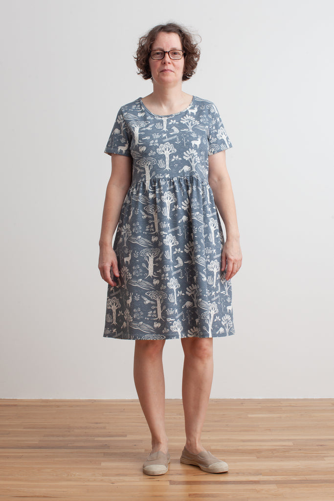 Women's Stockholm Dress - In the Forest Slate Blue