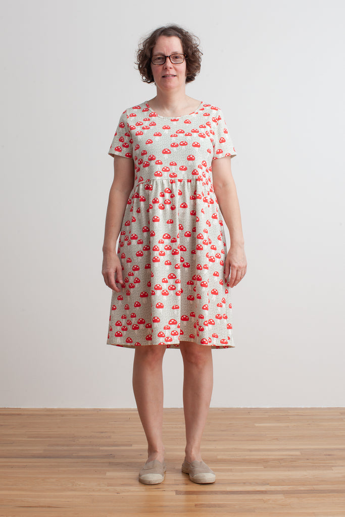 Women's Stockholm Dress - Mushrooms Sage