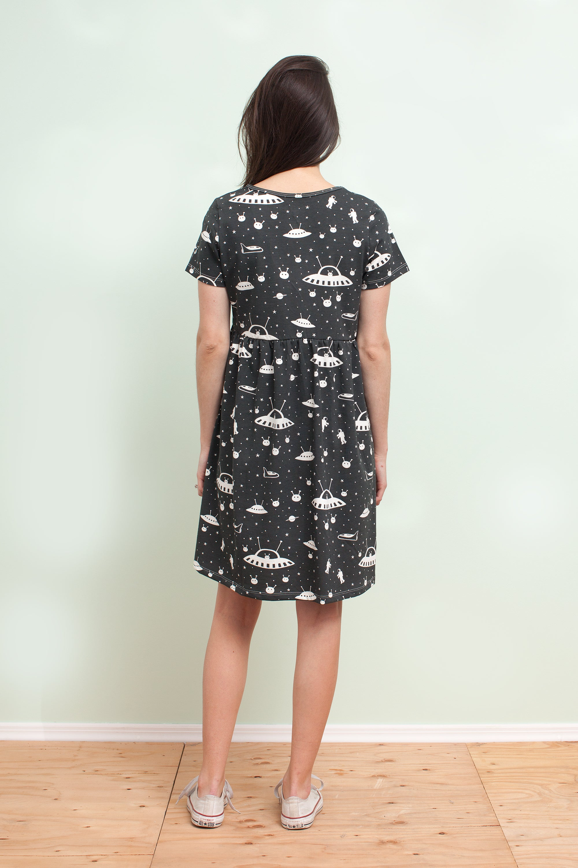 Women's Stockholm Dress - Outer Space Charcoal
