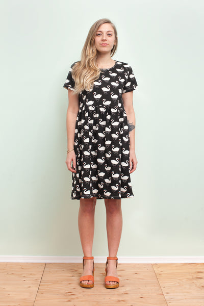 Women's Stockholm Dress - Swans Black