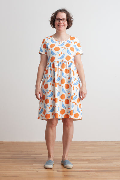 Women's Stockholm Dress - Yummy Fruit Blue & Orange