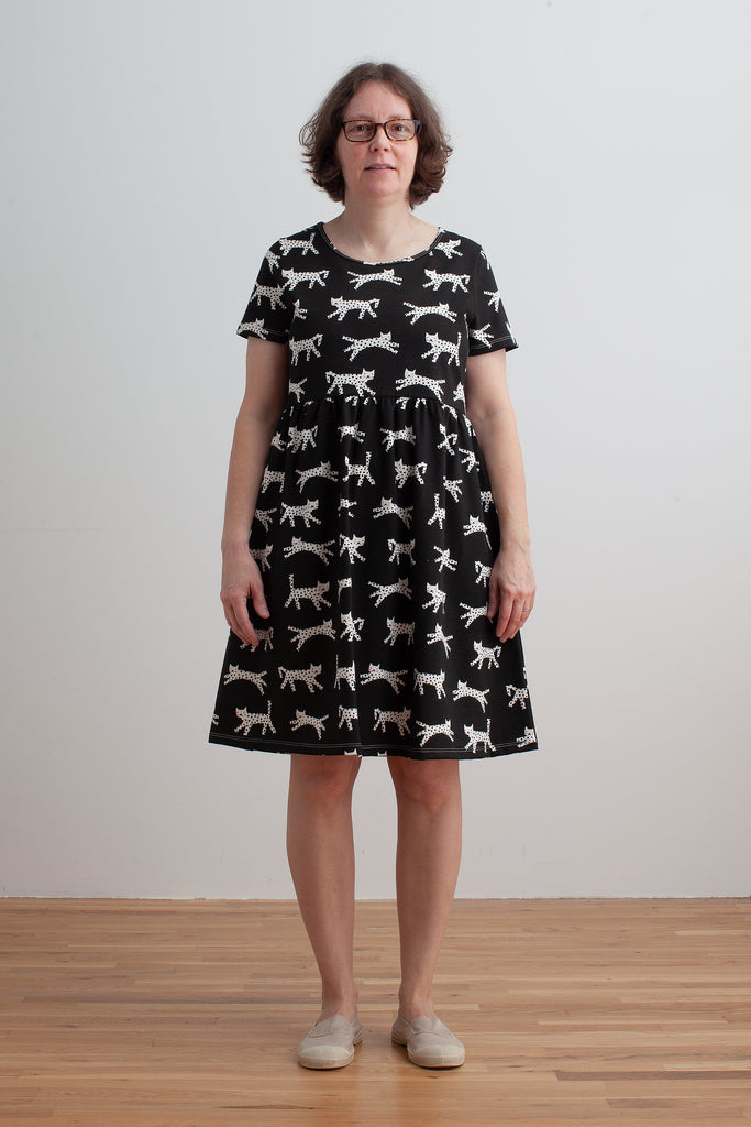 Women's Stockholm Dress - Cats Black