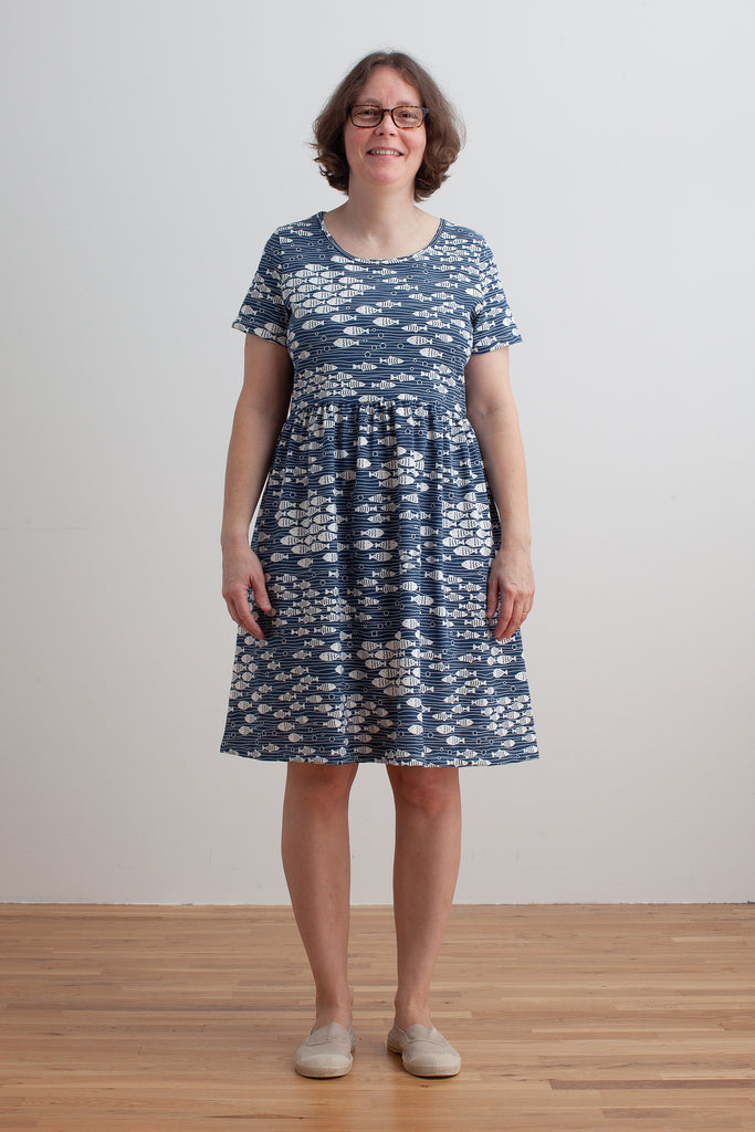 Women's Stockholm Dress - Under the Sea Navy