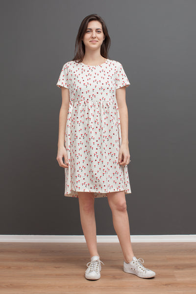 Women's Stockholm Dress - Tulips Red