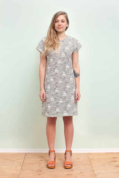 Women's T-Shirt Dress - High Seas Black