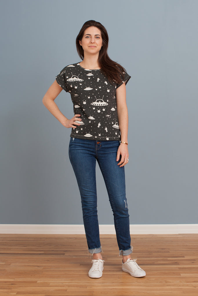 Women's Winston Top - Outer Space Charcoal