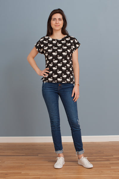 Women's Winston Top - Swans Black