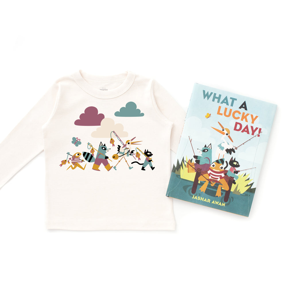 What A Lucky Day - Book & T-shirt Bundle