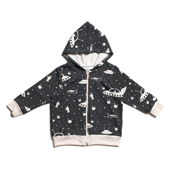 Zipper Hoodie -  Outer Space Charcoal