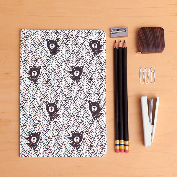 Notebook - Bears Black