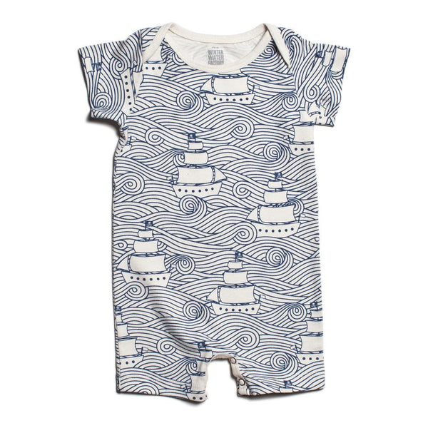 Summer Romper - High Seas Navy