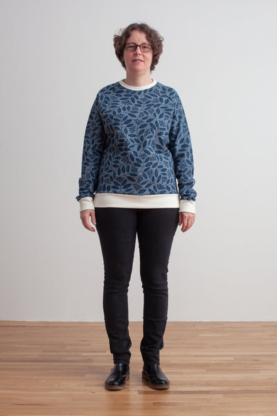 Adult Sweatshirt - Elderberry Night Sky & Slate Blue