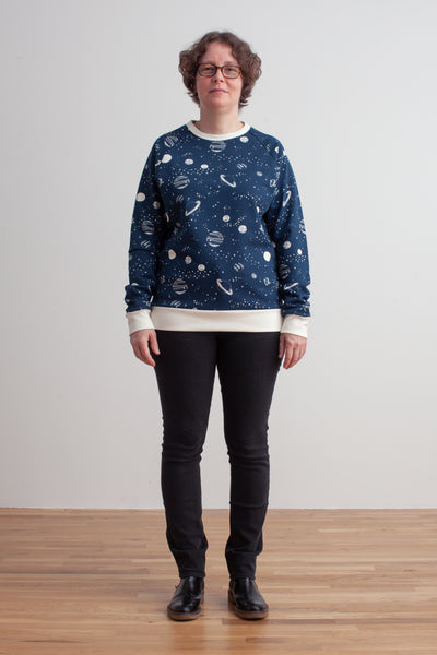 Adult Sweatshirt - Planets Night Sky