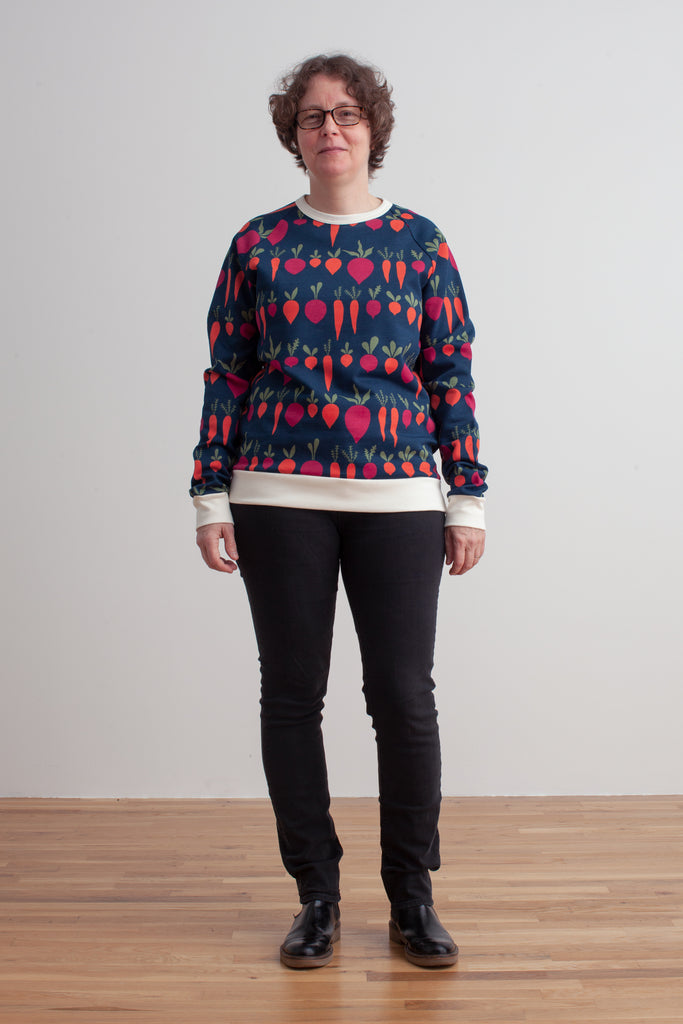 Adult Sweatshirt - Root Vegetables Night Sky