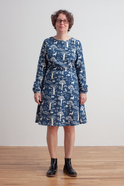 Women's Cambridge Dress - In the Forest Navy