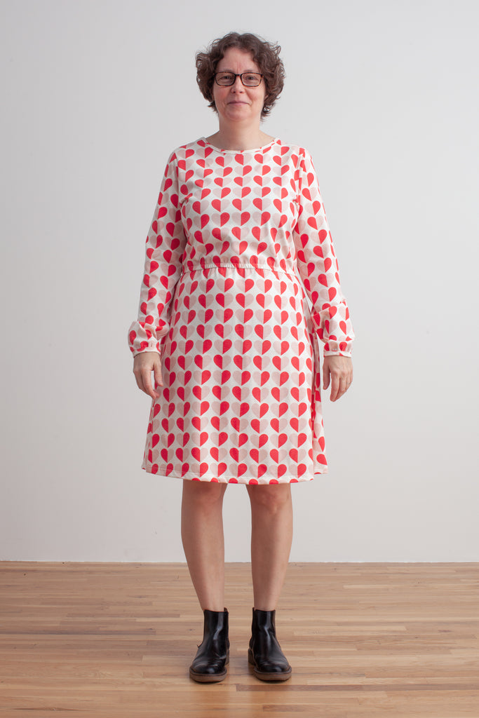 Women's Cambridge Dress - Hearts Red & Pink