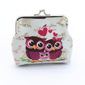 Coin Purses Retro Vintage Owl Small Wallet Purse  Small Clutch Bag