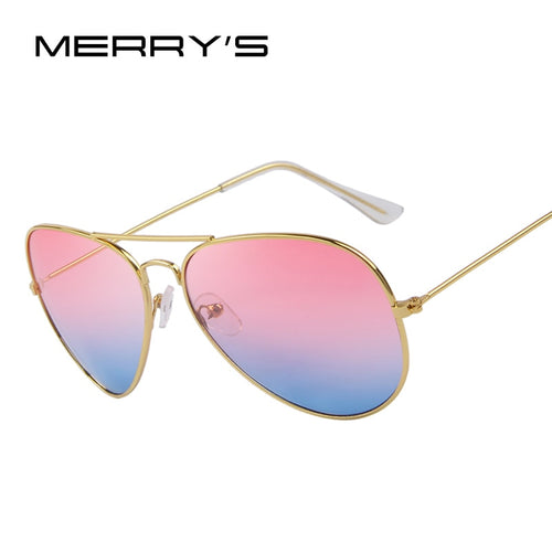 MERRY'S Fashion Unisex Sun glasses Classic Sea Gradient Shades Brand Designer Sun glasses UV400