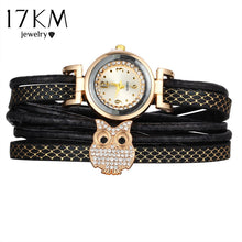 Load image into Gallery viewer, 17KM Fashion Owl Multilayer Crystal Leather Bracelets for Women Watch Bracelet & Bangles Female Vintage Pulseras Ethnic Jewelry