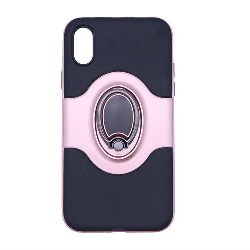 TPU Cell Phone Case Magnet Ring Stand Holder Cover Case for iPhone X