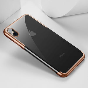 Baseus For iPhone X Xs Case Luxury Plating Hard Plastic Phone Case For iPhone Xs XR XS Max 2018 Cases Thin Back Cover Coque