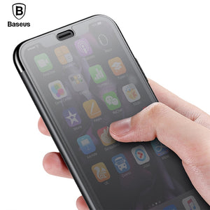 Baseus Luxury Filp Case For iPhone XS Max XR Coque Tempered Glass Full Protective Cover For iPhone XS X S Xsmax Capinhas Fundas