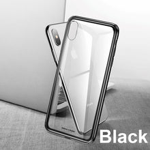 Load image into Gallery viewer, Baseus Luxury Glass Case For iPhone XS Max Xr TPU Edge Tempered Glass Cases Back Protective Cover Coque For iPhone Xsmax Fundas