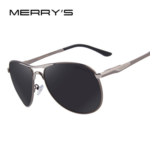 MERRYS Men Aluminum Polarized Sunglasses Classic Brand Sunglasses EMI Defending Coating Lens Driving Shades S8712