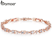 Load image into Gallery viewer, Choose from 6 Colors! Luxury Rose Gold-filled Bracelet AAA Cubic Zirconia Crystal Jewelry JIB013