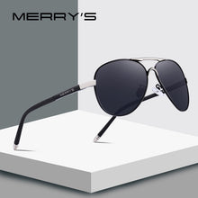 Load image into Gallery viewer, MERRYS Men Classic Pilot Sunglasses HD Polarized Aluminum Driving Sun glasses Luxury Shades UV400 S8513
